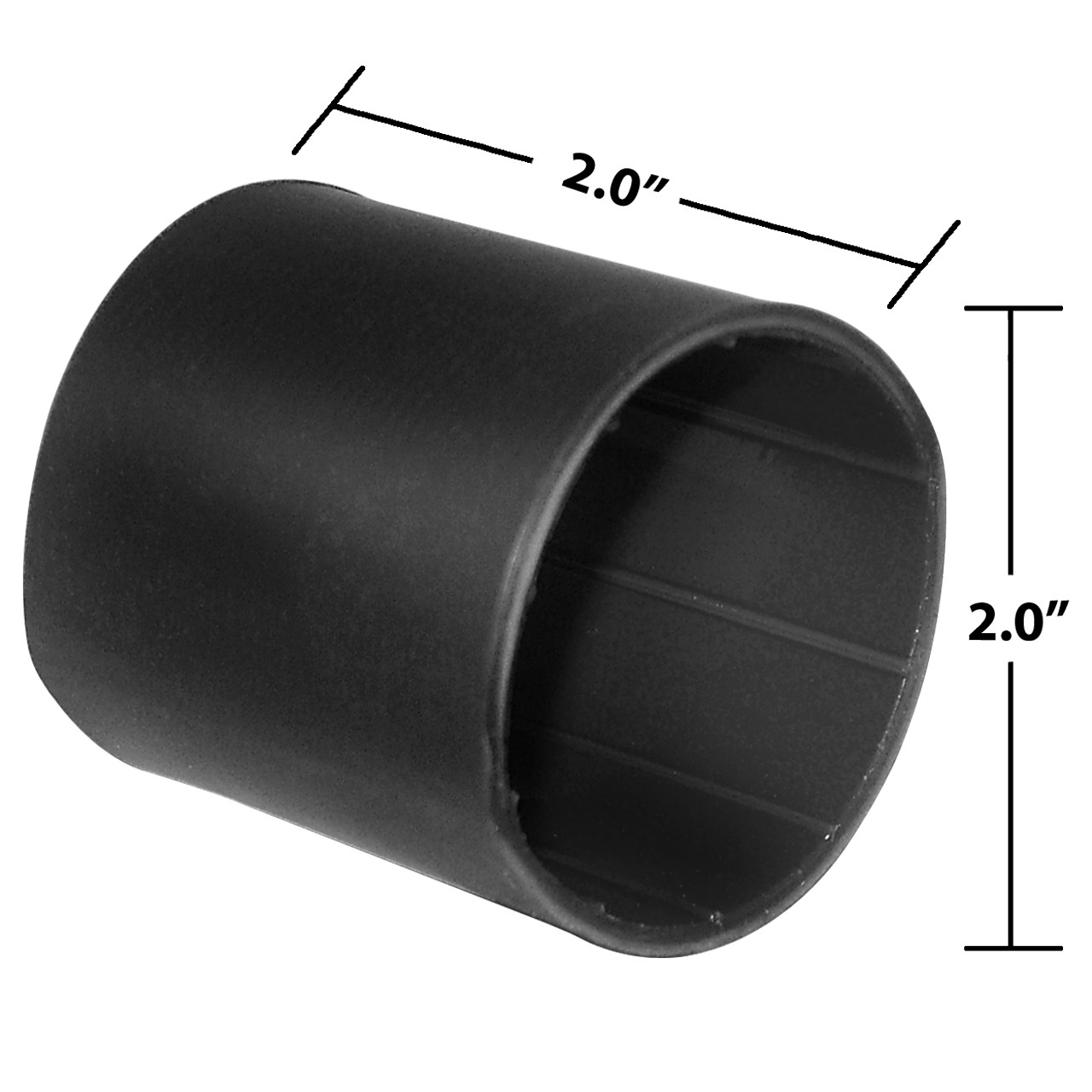 2 x 2 Inches Black Heavy Wall Heat Shrink, Adhesive Lined, 3 to 1 Shrink Ratio
