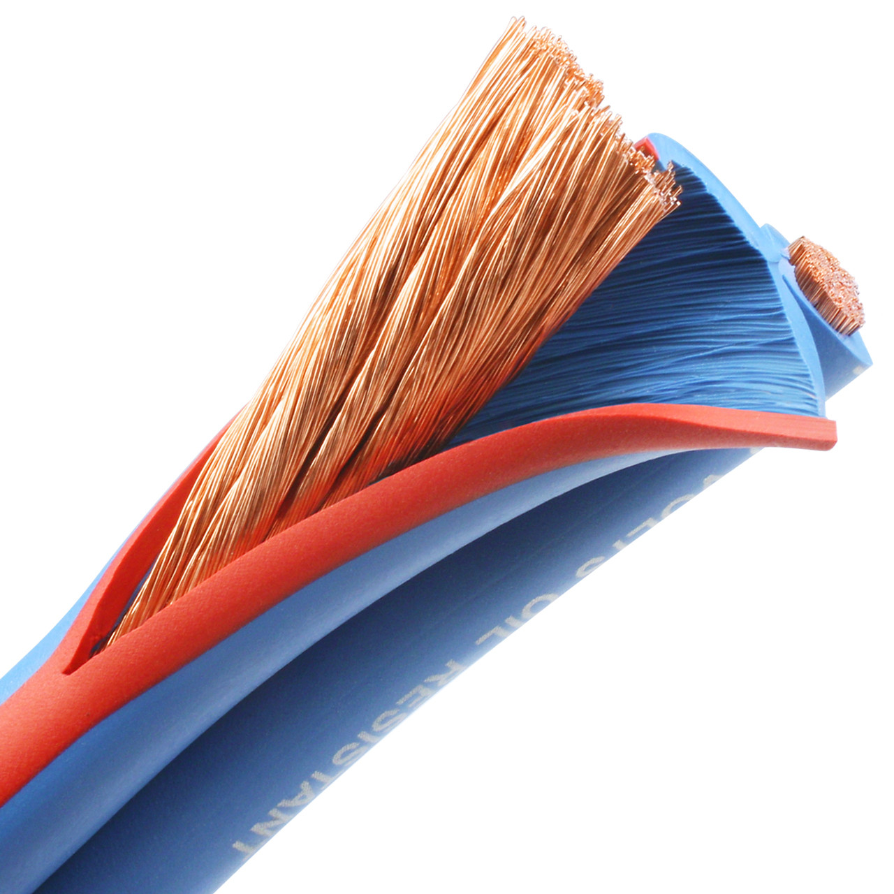 Arctic Superflex Blue 2 gauge flexible, fine stranded 100% copper parallel bonded double conductor wire is made in the USA