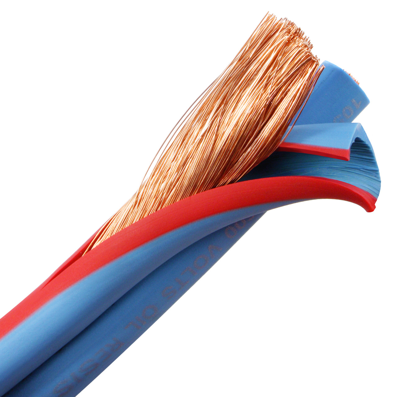 Arctic Superflex Blue 4 AWG flexible, fine stranded 100% copper parallel bonded twin wire is made in the USA