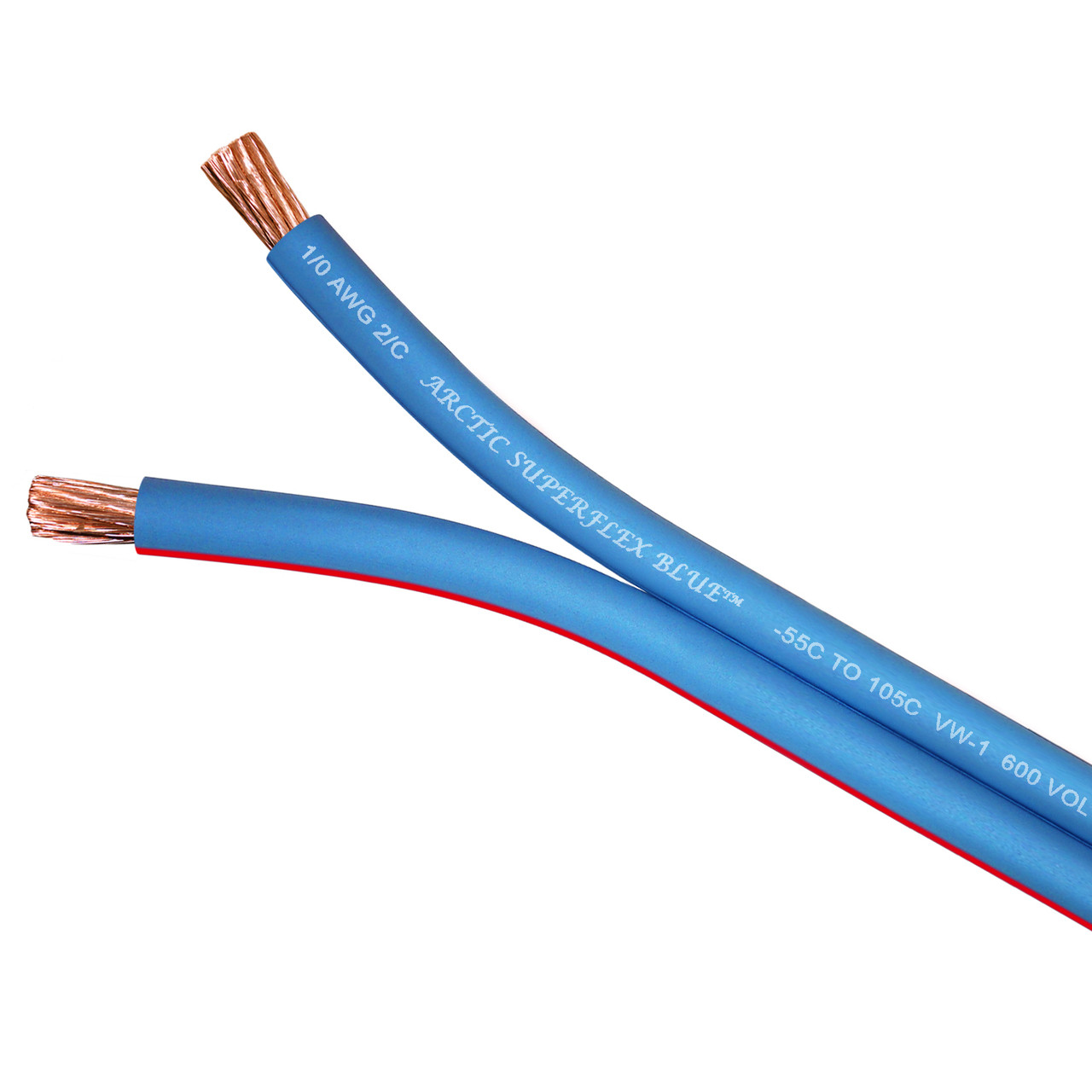 Arctic Superflex Blue conductors separate smoothly and evenly for jumper cables, motor leads, and other applications