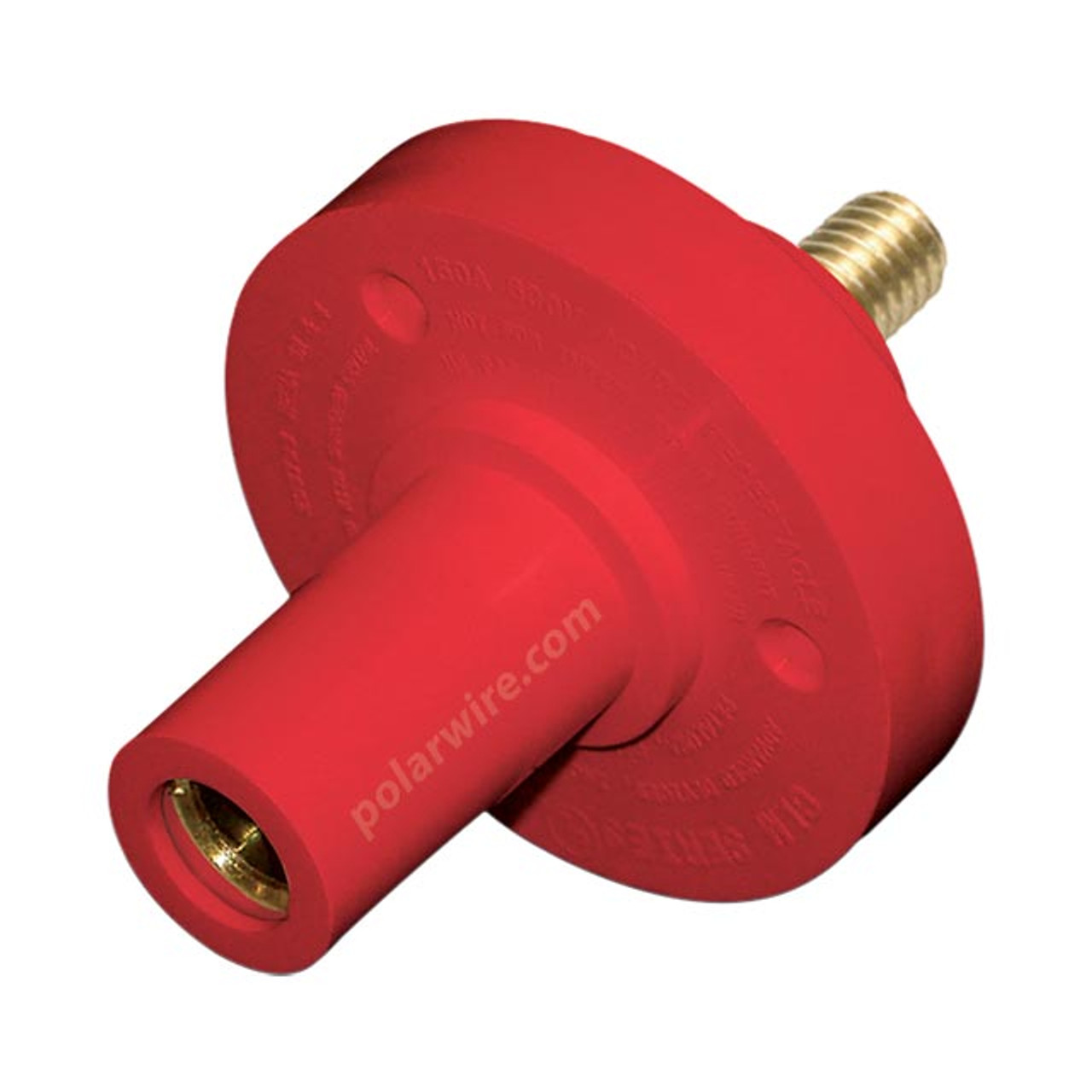 "CAM  LOCK 150A PANEL FEM RED 5/16"" STUD 8-2 AWG"