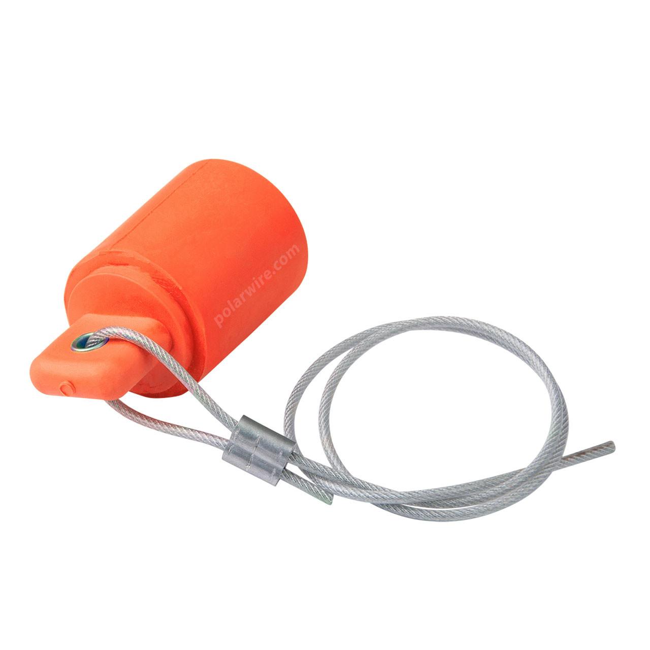Cam Lock 400 amp orange female protective cover