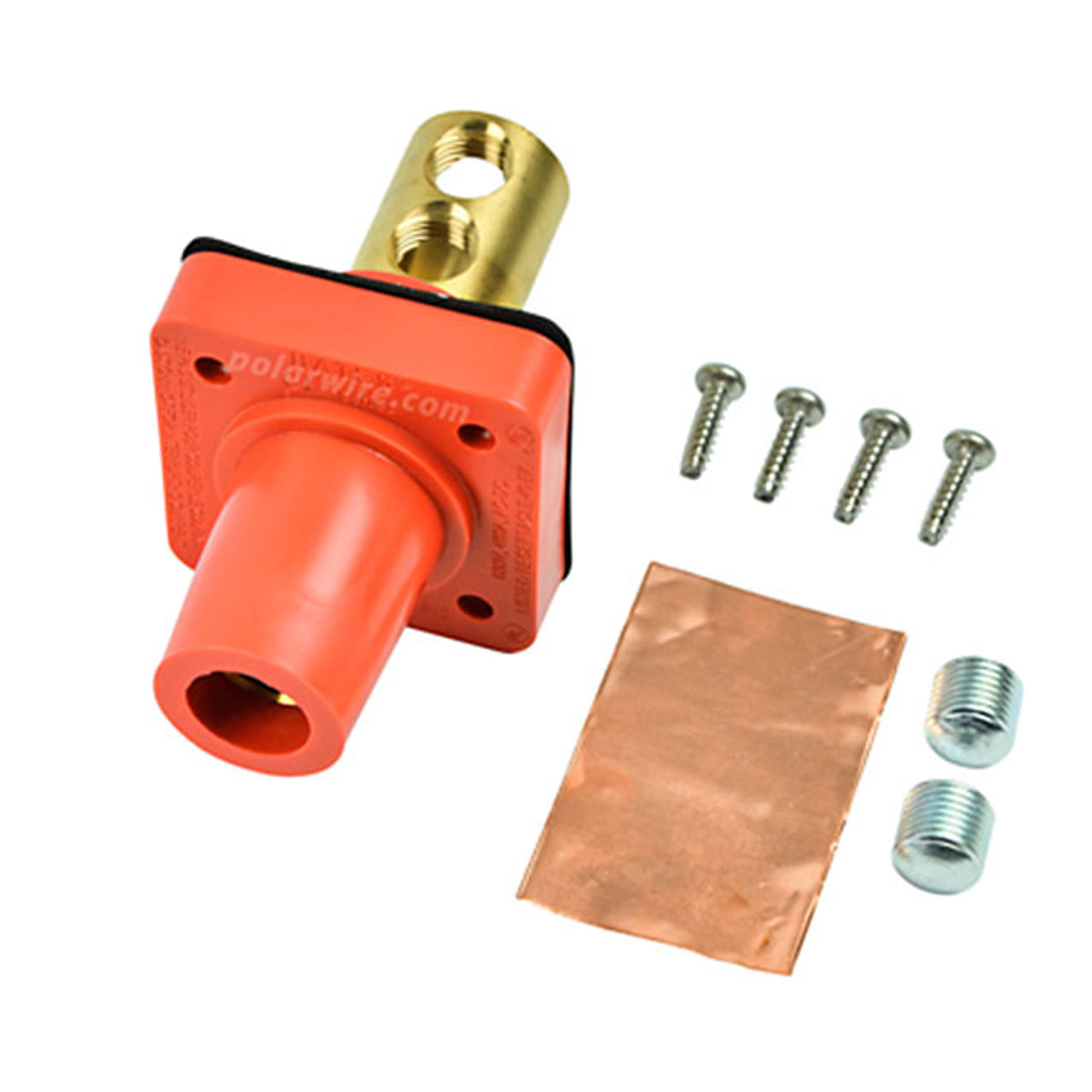 CAM LOCK 400A PANEL FEM ORANGE SET SCREW 2/0-4/0