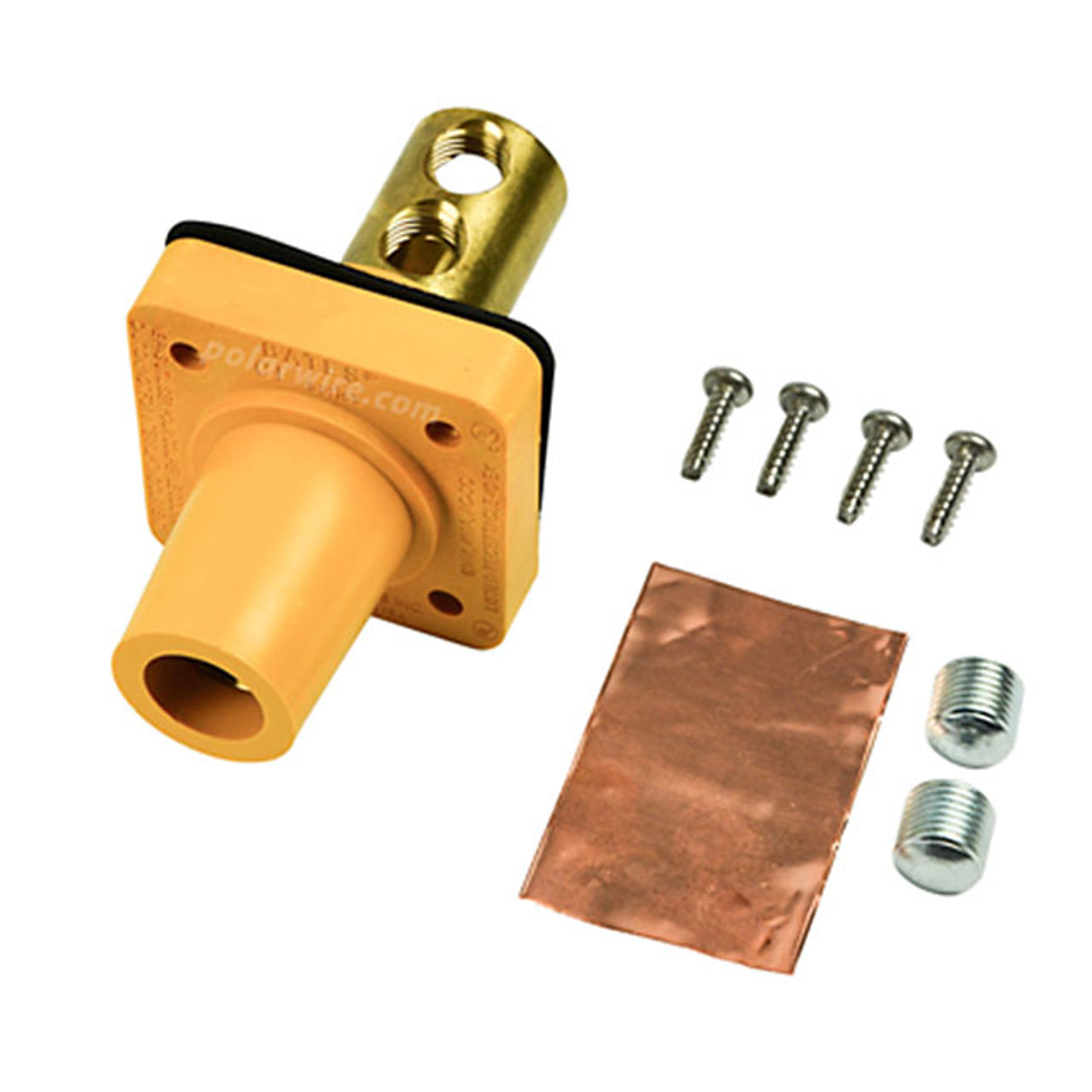 CAM LOCK 400A PANEL FEM YELLOW SET SCREW 2/0-4/0