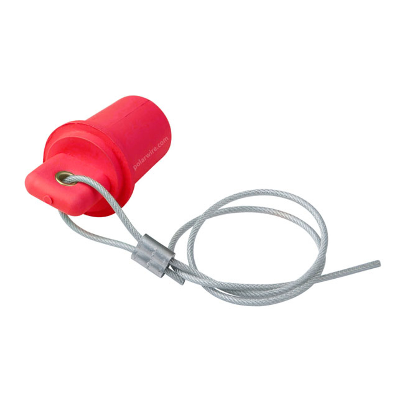 Marinco Cam Lock 400 amp red male protective cover with 20 inch lanyard