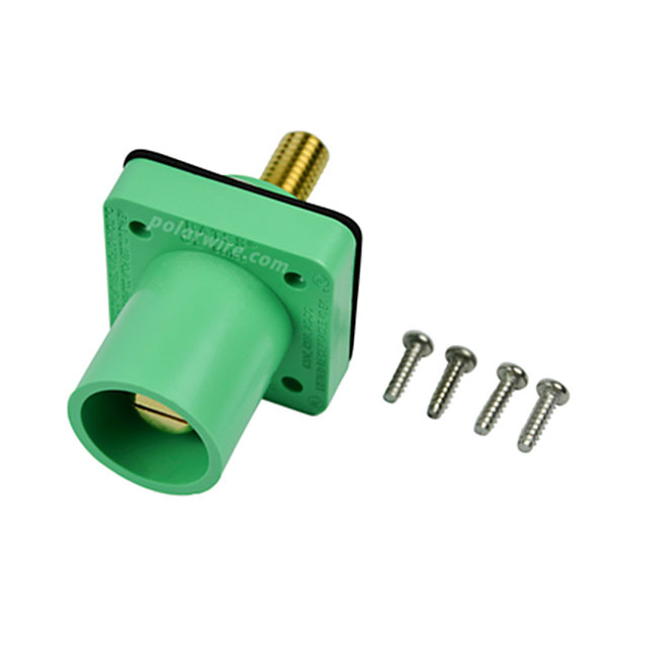 "CAM LOCK 400A PANEL MALE GREEN 1/2"" STUD 2/0-4/0"