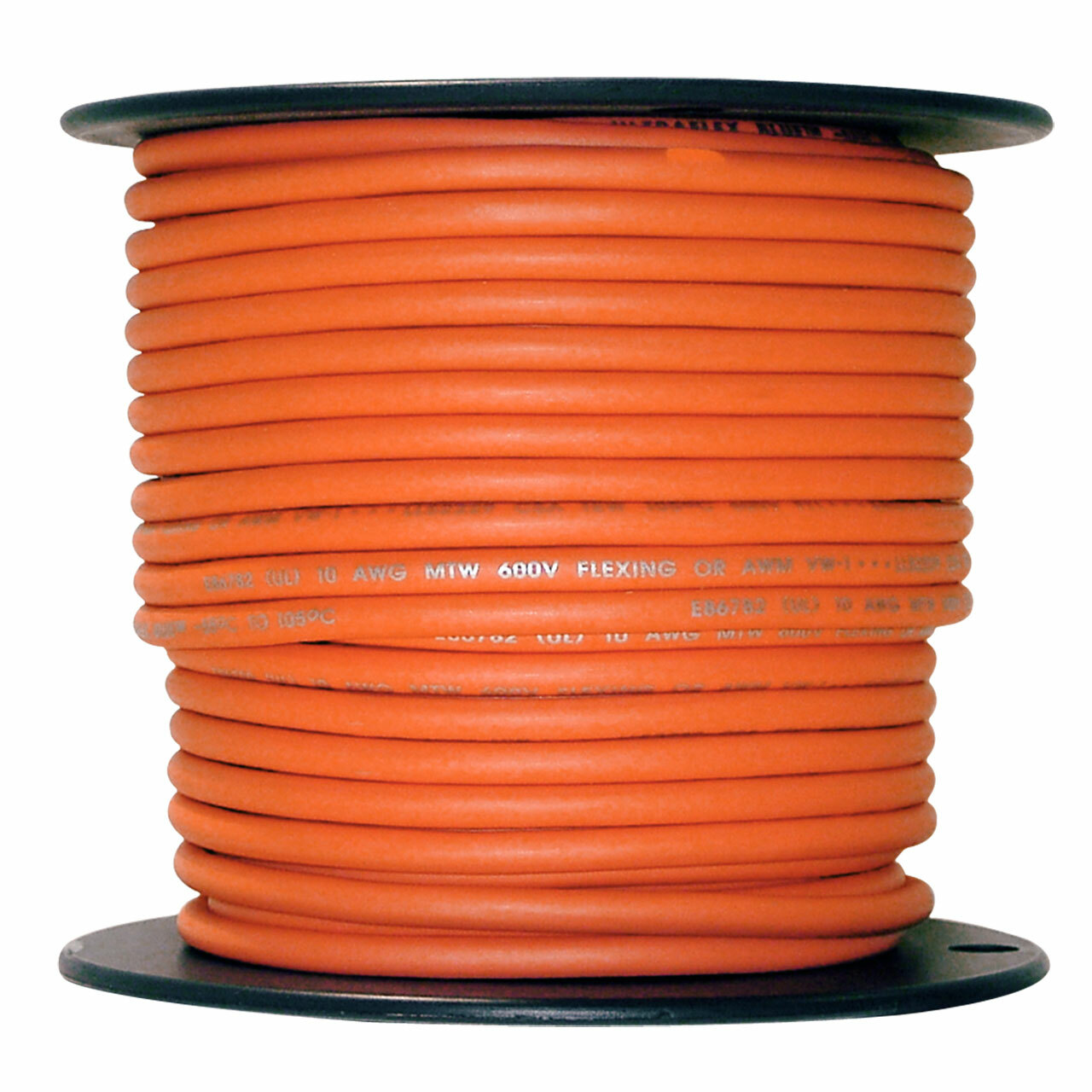 10 AWG Arctic Ultraflex Blue Single Conductor Wire 100% copper tinned fine strand, 600v applications, 500 foot spool Orange