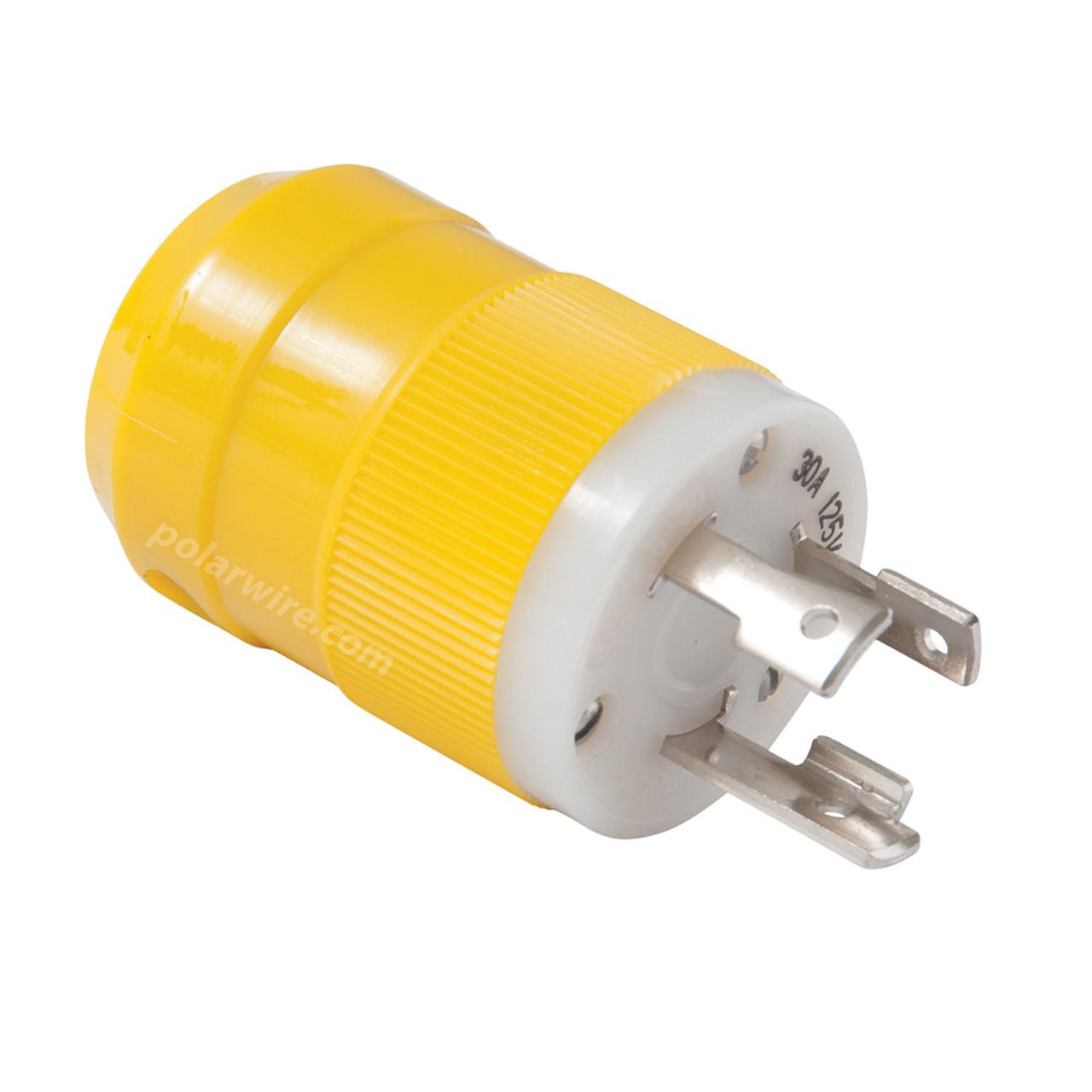30A 125V Locking Blade Male Shore Power Plug