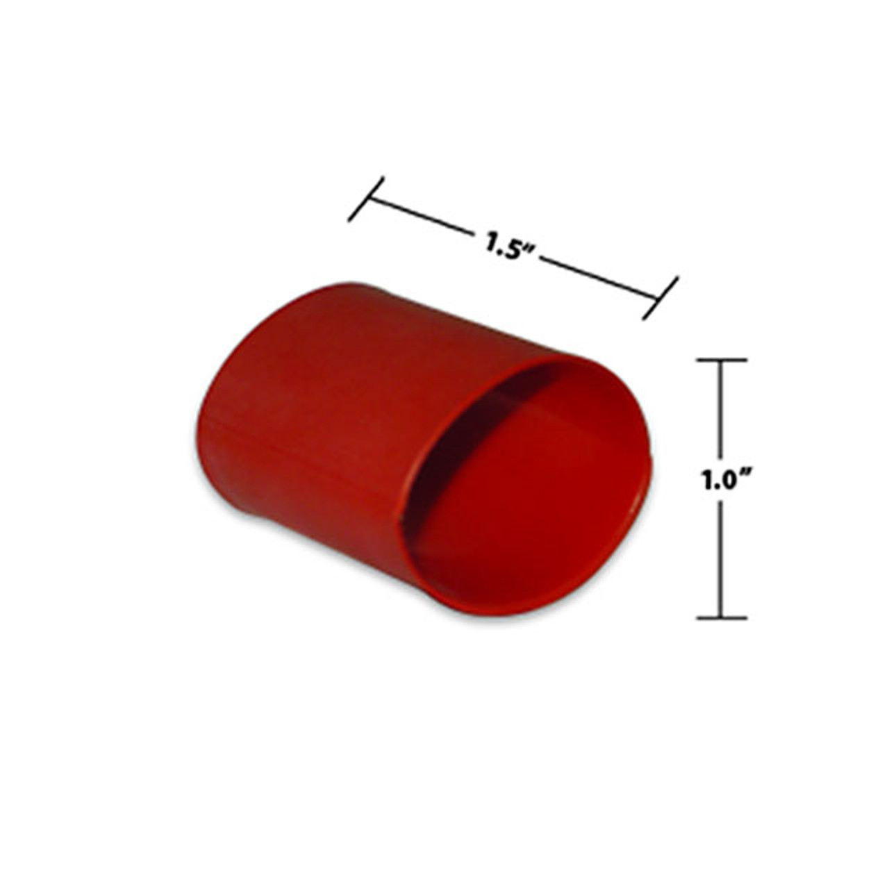 1 by 1-1/2 Inches Red Dual Wall Heat Shrink, Adhesive Lined, 3 to 1 Shrink Ratio