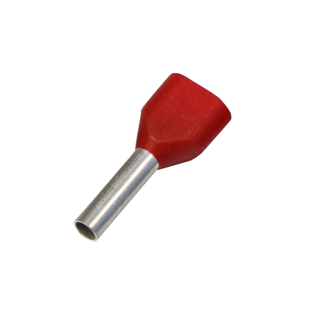 TWIN WIRE FERRULE 2X18GA RED  2X1.00MM
