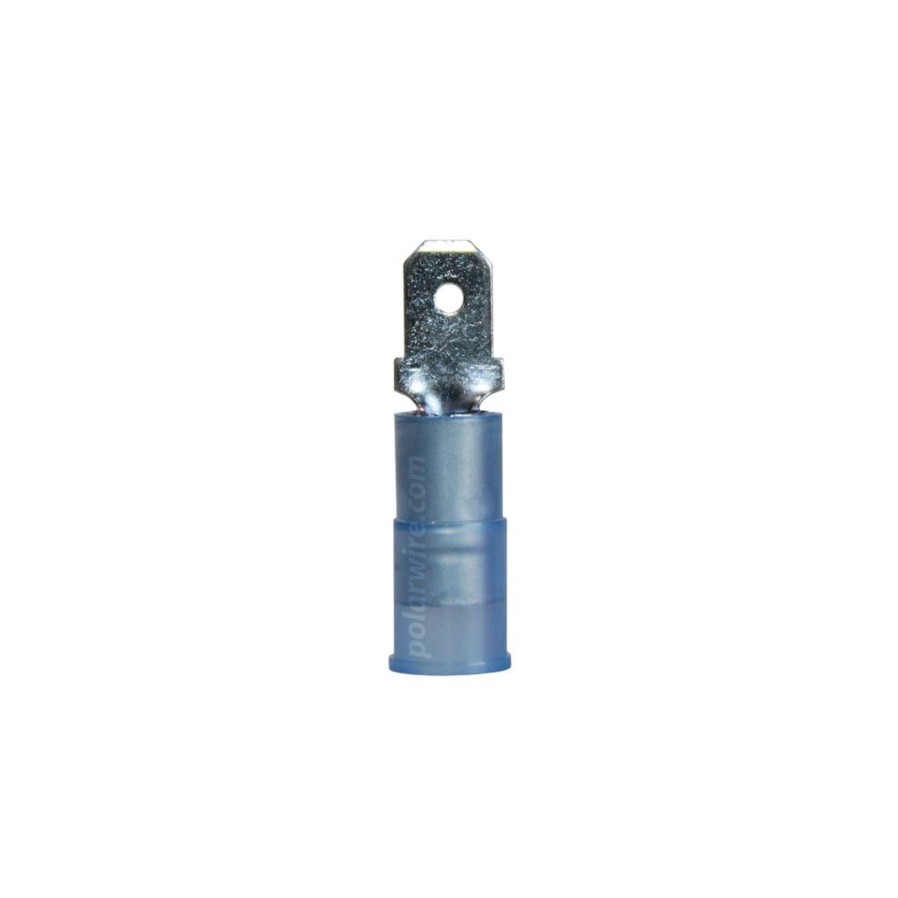 NYLON SLIDE-M 16-14GA.187  MALE 100 PACK MOLEX