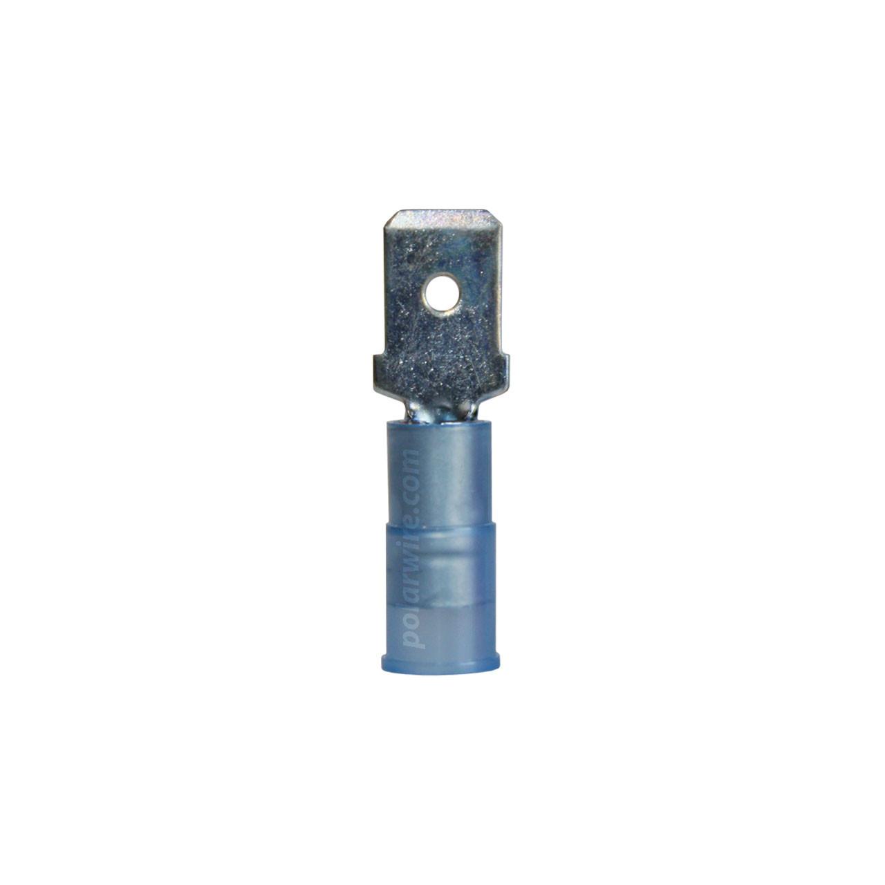 NYLON SLIDE-M 16-14GA.250  MALE 100 PACK MOLEX