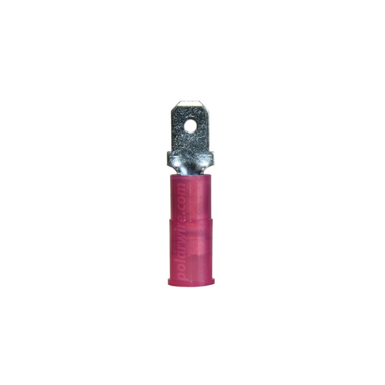 NYLON SLIDE-M 22-18GA.187  MALE 100 PACK MOLEX