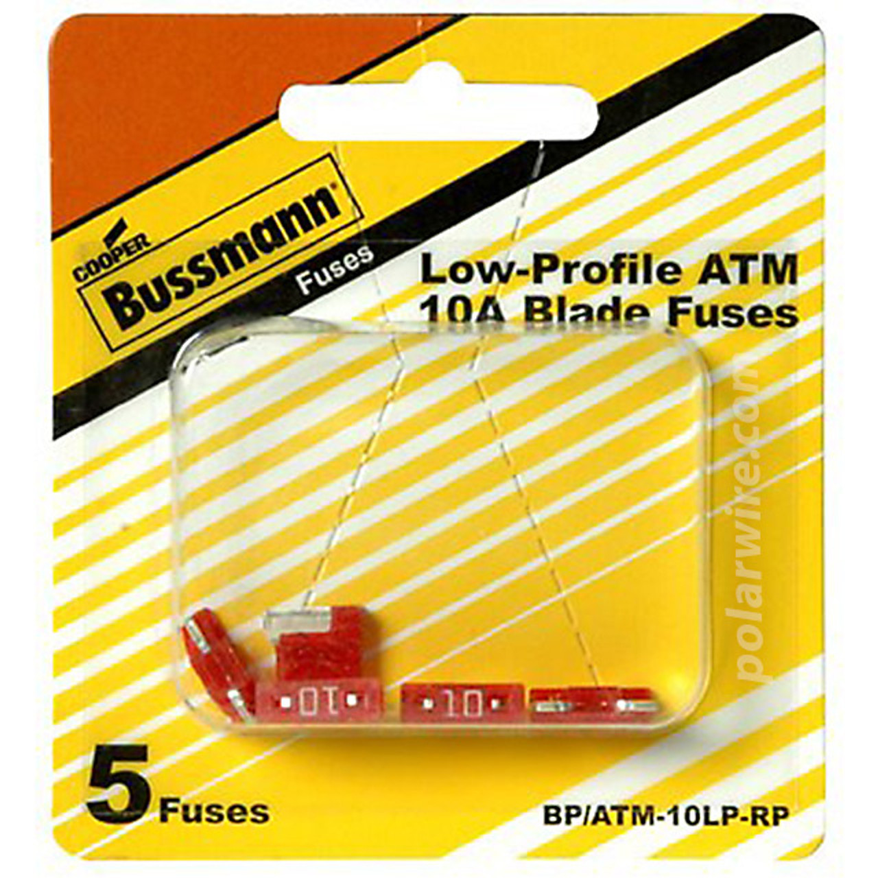 FUSE 10 AMP LOW PROFILE ATM MINI-BLADE FUSE 5 PK