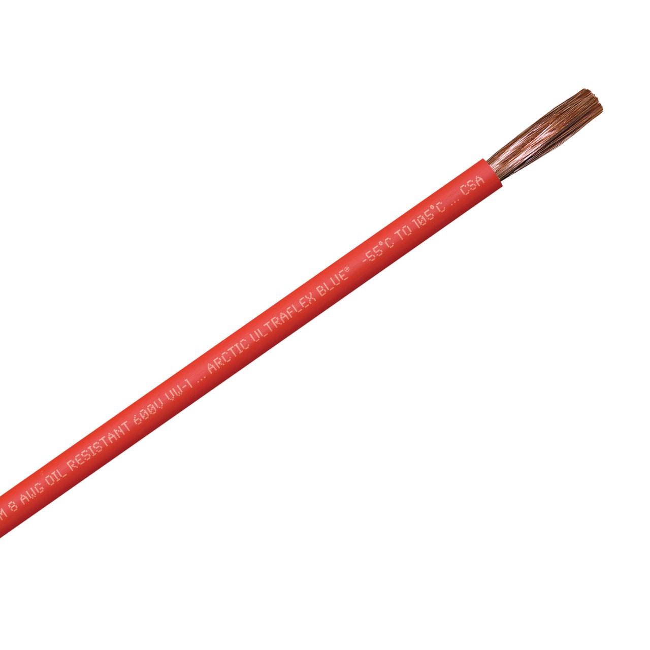 ARCTIC ULTRAFLEX 8GA RED PER FOOT