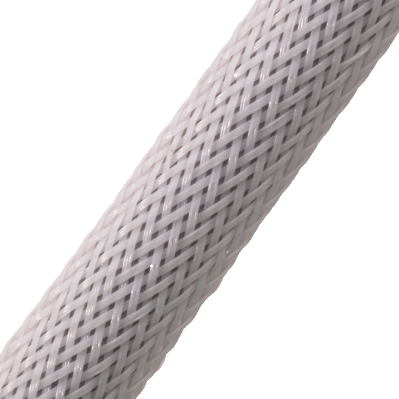 """BRAIDED SLEEVE 1/2"""" 24' WHITE EXPANDS 1/4""""-3/4"""""""