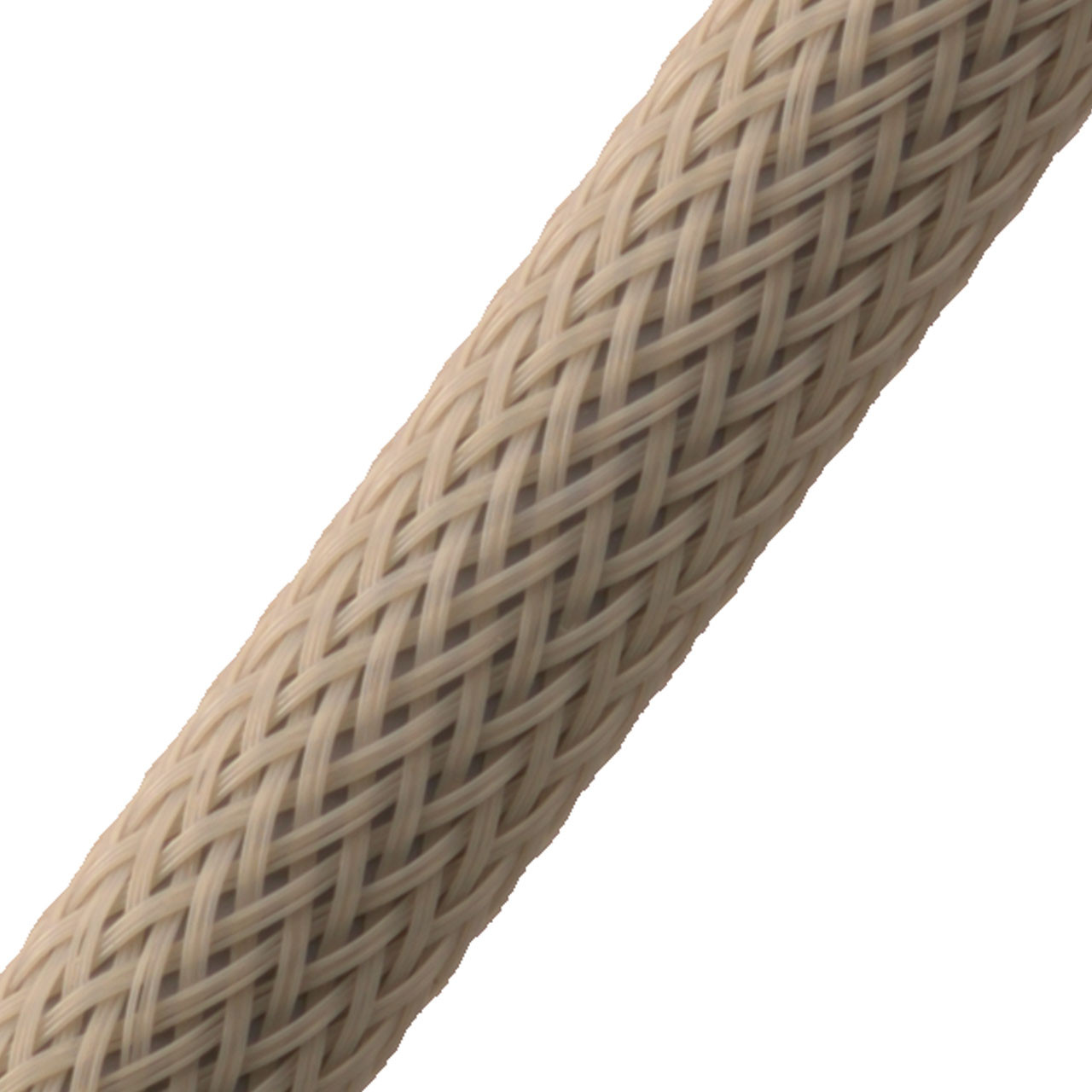 "BRAIDED SLEEVE 3/8"" 30' BEIGE EXPANDS 3/16""-5/8"""