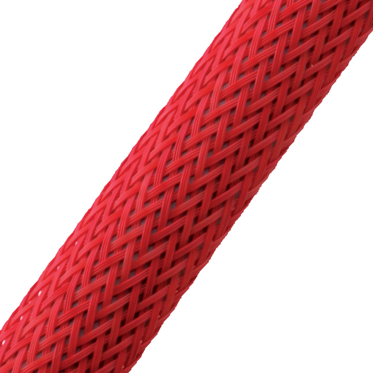 "BRAIDED SLEEVE 3/8"" 30' RED EXPANDS 3/16""-5/8"""