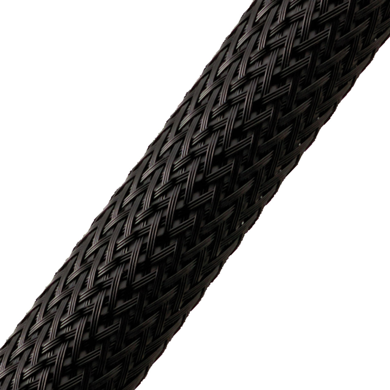 "BRAIDED SLEEVE 1 1/2"" 40'  BLACK EXPANDS 1""-2 1/2"""