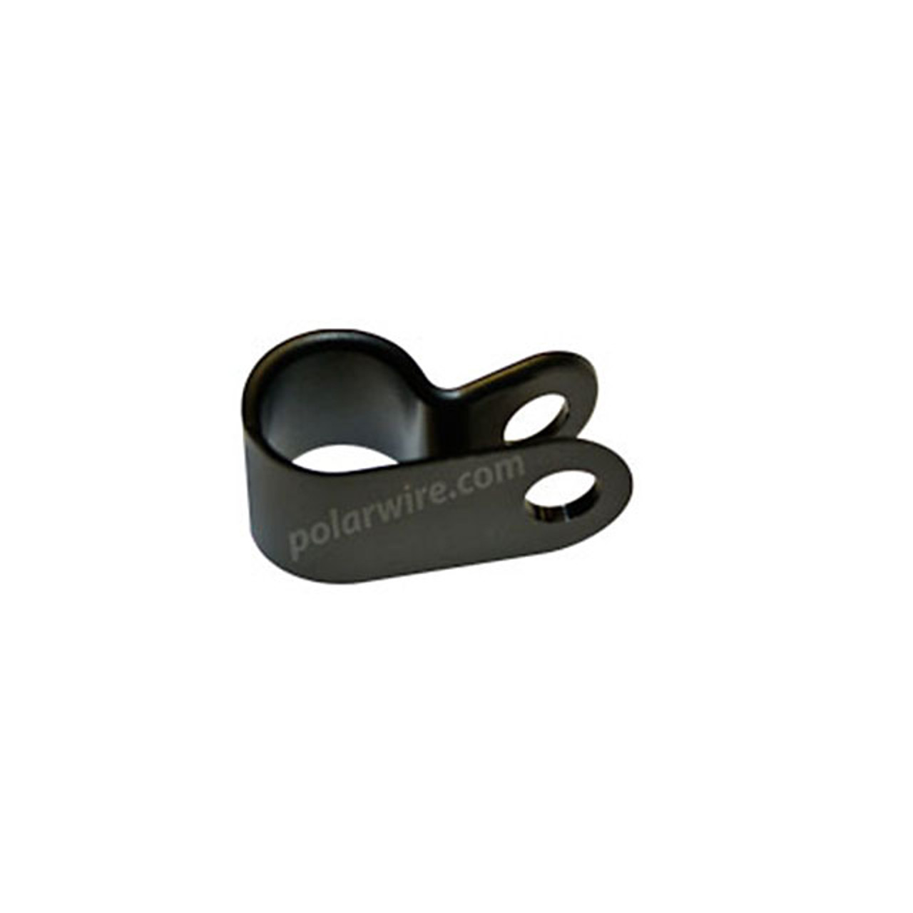"1/4"" Black UV Nylon 6/6 Cable Clamp"