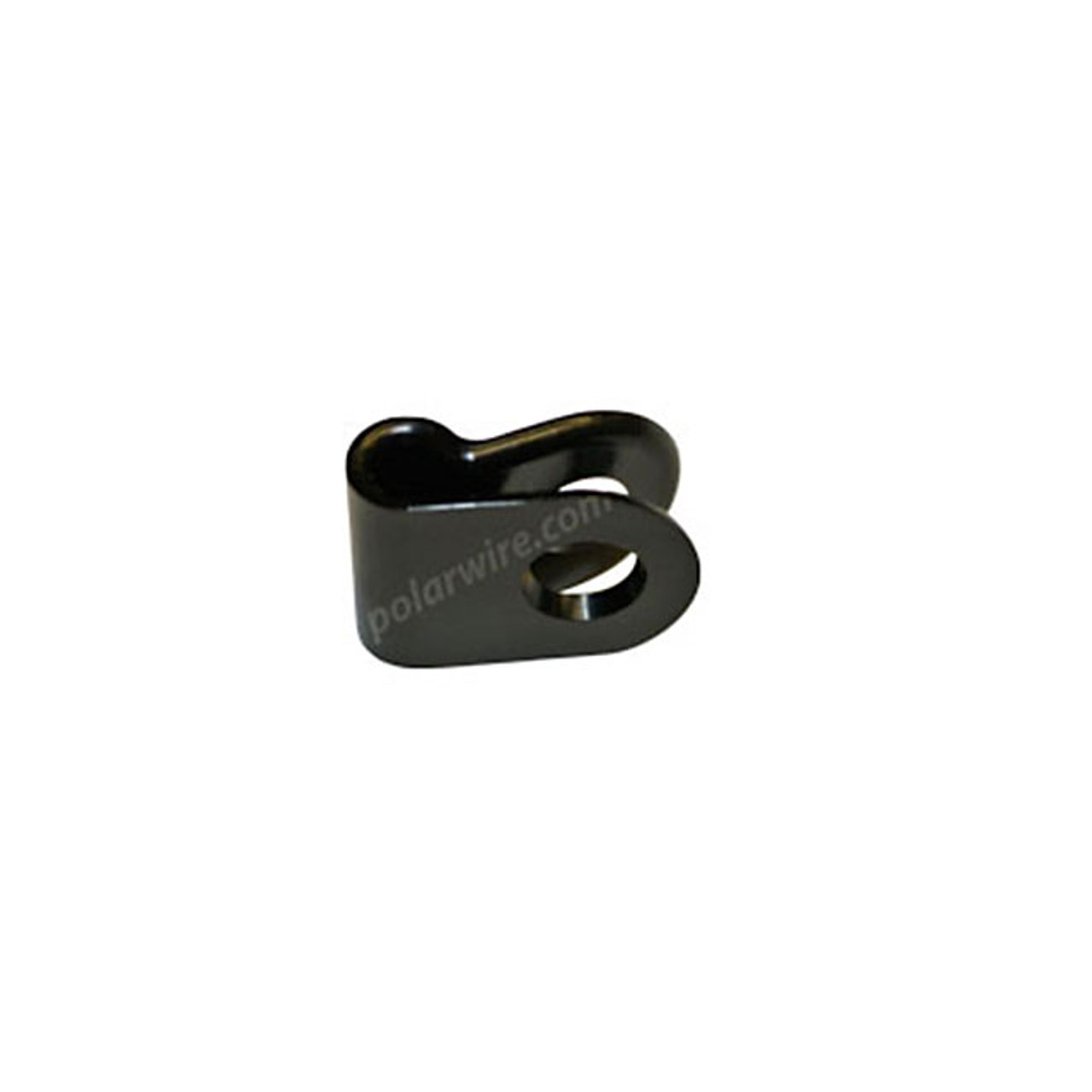 "1/8"" Black UV Nylon 6/6 Cable Clamp"