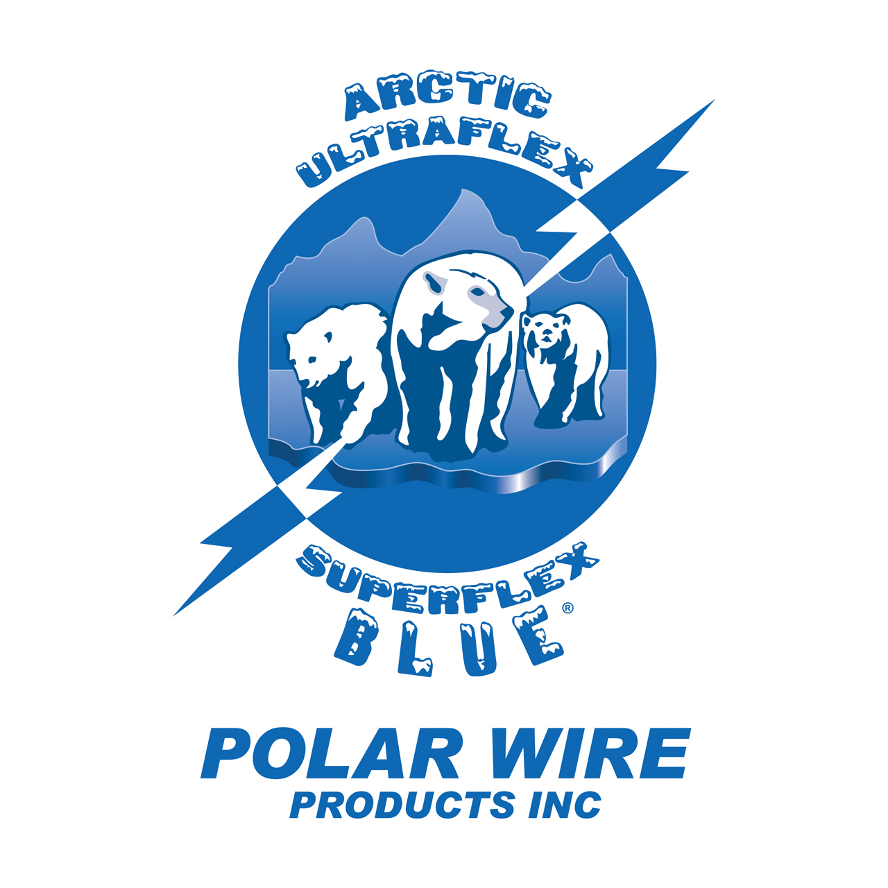 Polar Wire extension cords are made with three conductor -50C to 105C Arctic Ultraflex Blue Power Cord