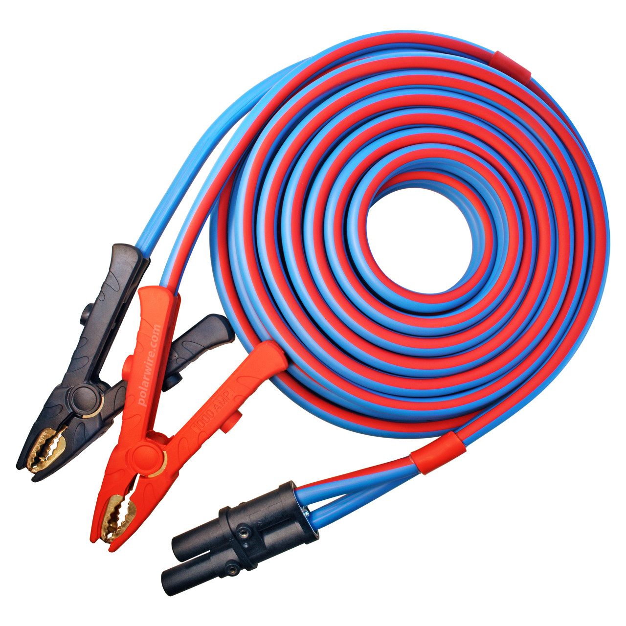 Polar Wire Booster Cables feature replaceable clamps and heat shrink sealed connections for a lifetime of trouble free performance