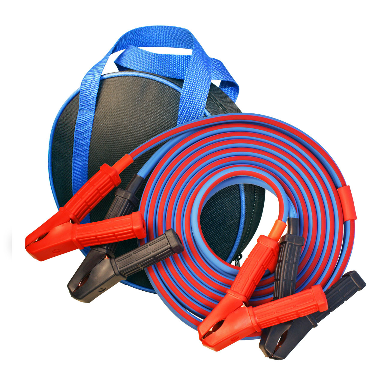 Premium Jumper Cables 6 gauge 12' sized for ATVs, UTVs, Golf Carts, Motorcycles, Mowers, Scooters, and similar