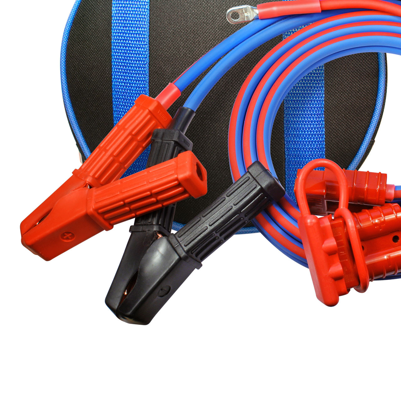 Polar Wire makes the best jumper cables available anywhere! 8 gauge, 6 foot with 1 foot harness ATV UTV style