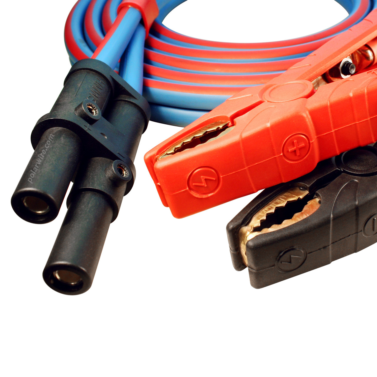 Polar Wire makes the best jumper cables available anywhere! 1/0 gauge, 15 foot J-1283 heavy duty caterpillar jump start cable