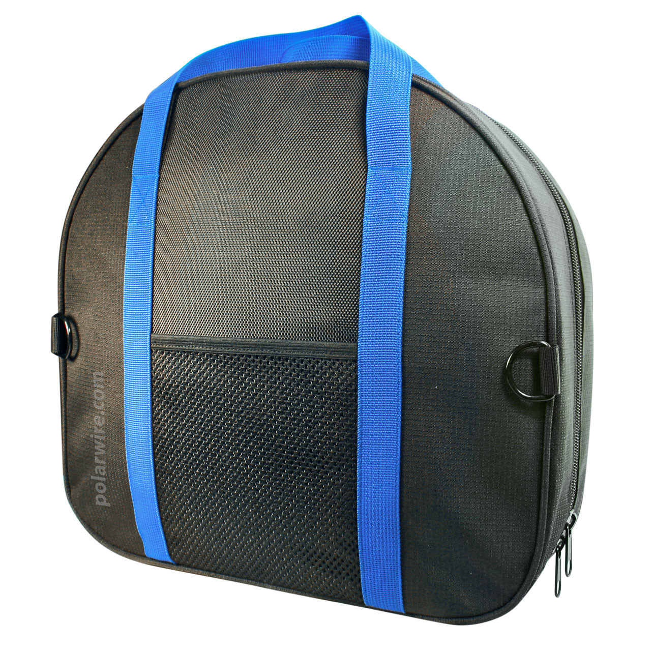 Includes a rugged nylon canvas jumper cable storage bag with a wide zippered opening, webbing handles and side pocket