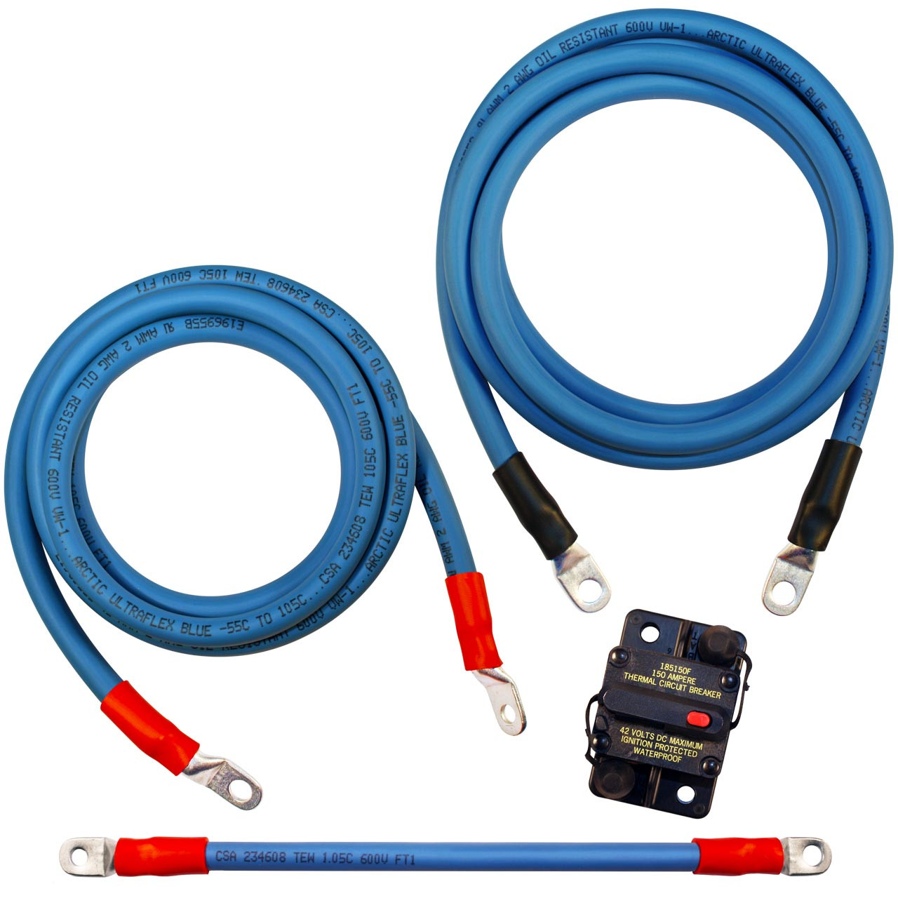 4 AWG Battery Cables Solar Marine,Inverter 3//8/'/',5//16/'/' Tin plated copper Lug