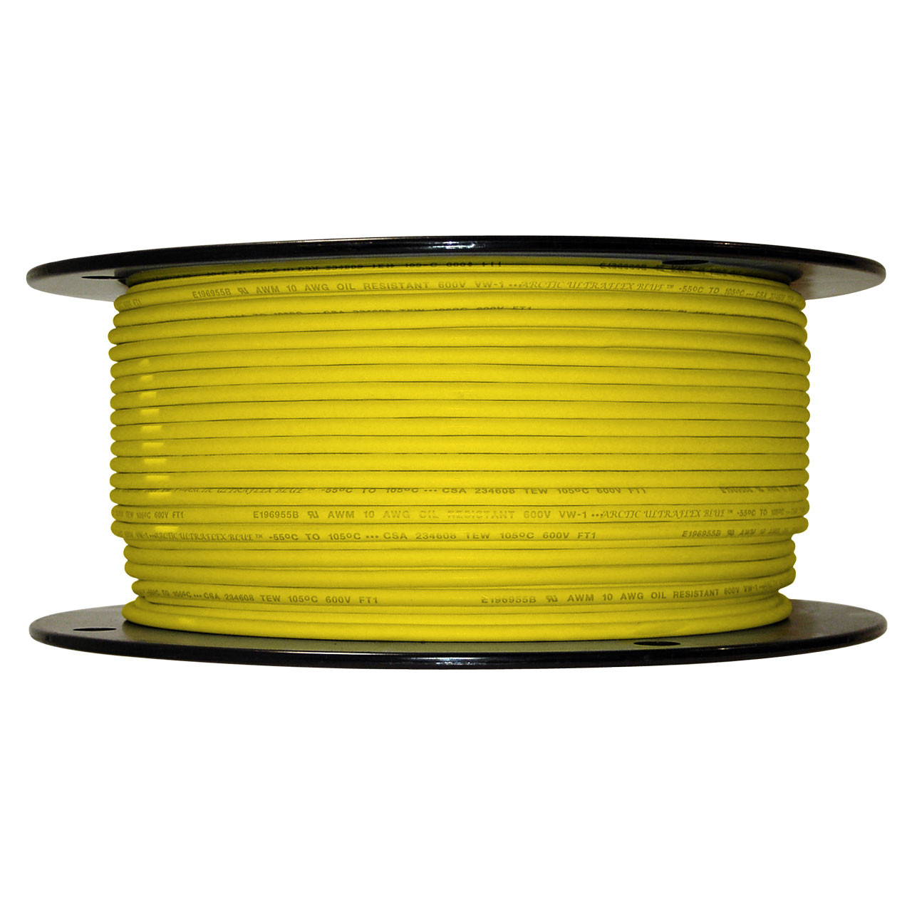 500 foot spool Yellow 10 AWG Arctic Ultraflex Blue Single Conductor Wire 100% copper tinned fine strand, 600v applications