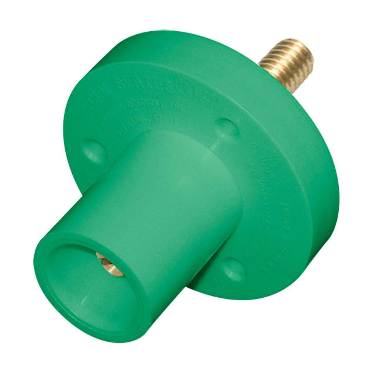 """CAM  LOCK 150A PANEL MALE GREEN 5/16"""" STUD 8-2 AWG"""