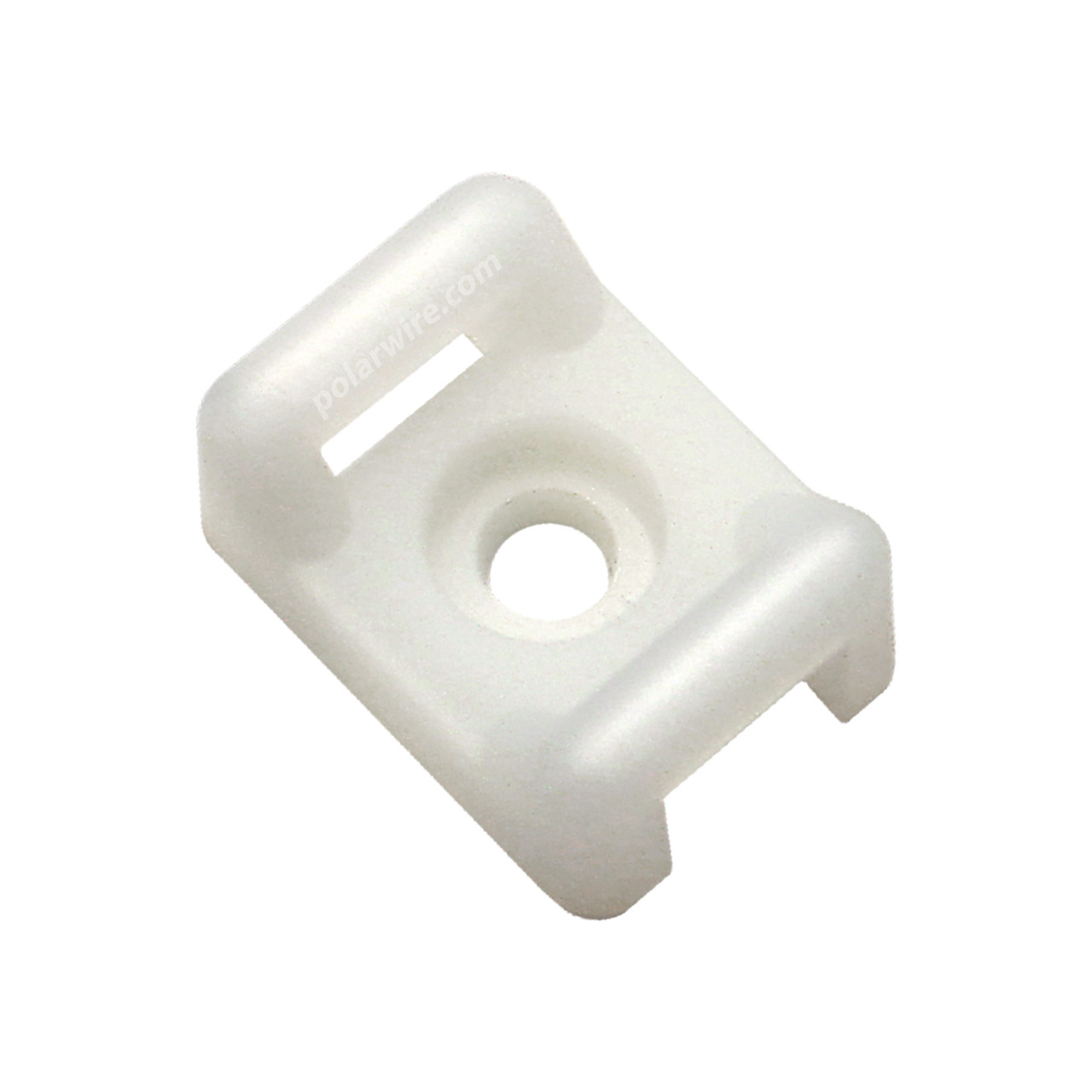 CABLE TIE BASE NATURAL 18-120 LB PULL #8 SCREW MOUNT