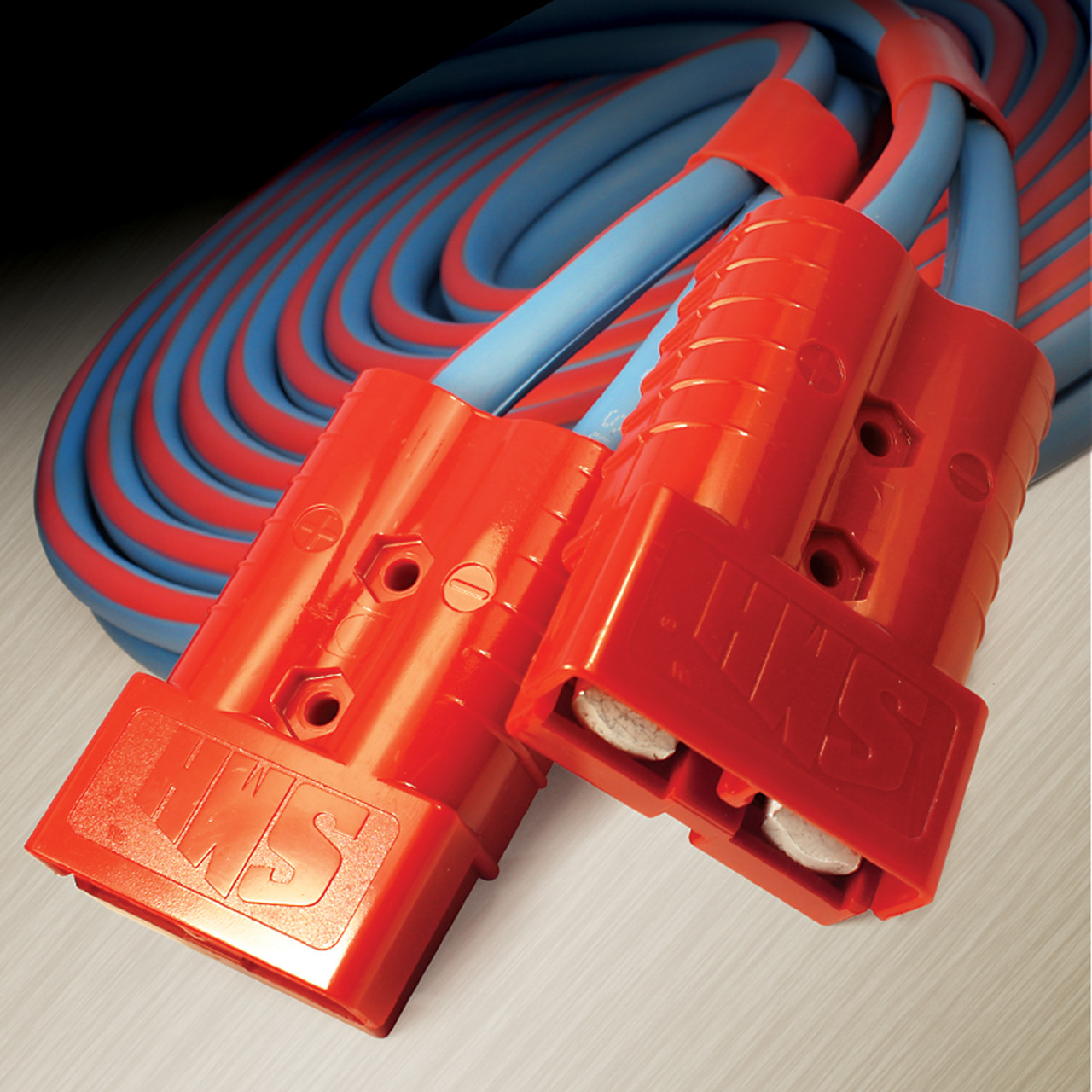 350 amp connectors mate easily and securely