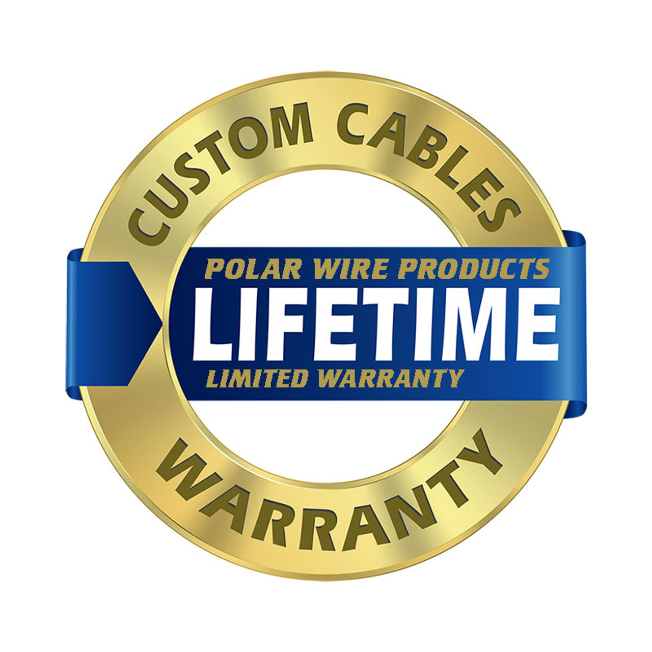 Polar Wire's custom cables are covered by a lifetime limited warranty on manufacturing and materials