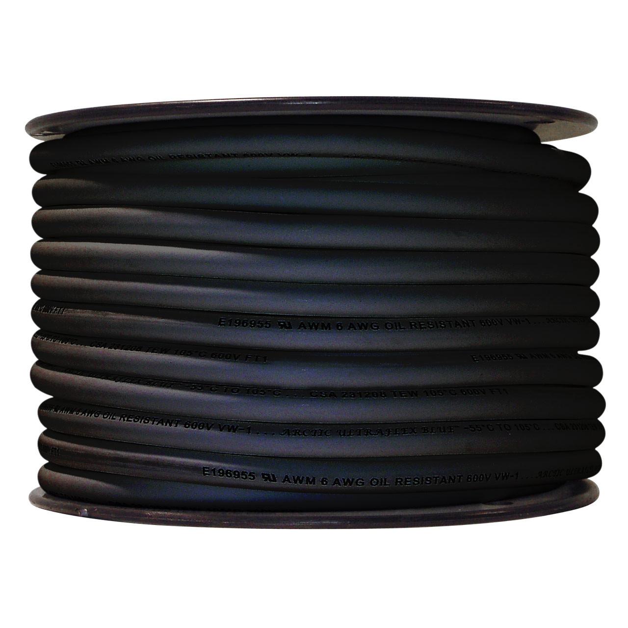 ARCTIC ULTRAFLEX 6GA BLACK 100 FOOT ROLL