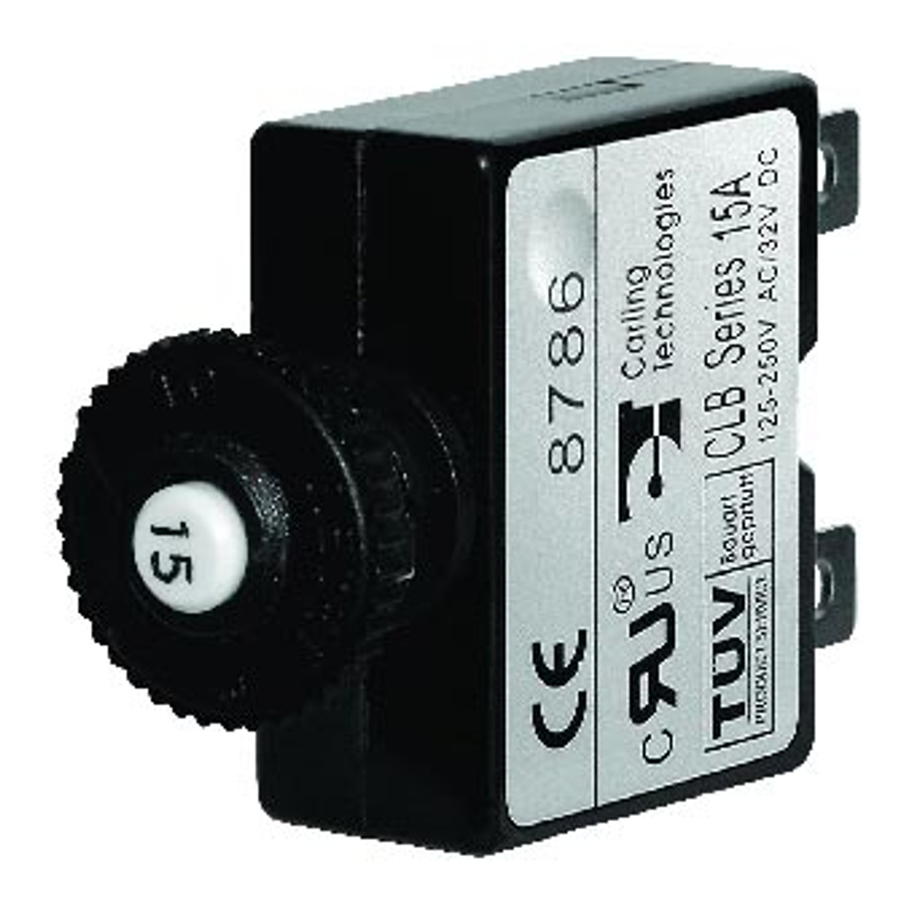 CIRCUIT BREAKER 15 AMP PUSH BUTTON QUICK CONNECT