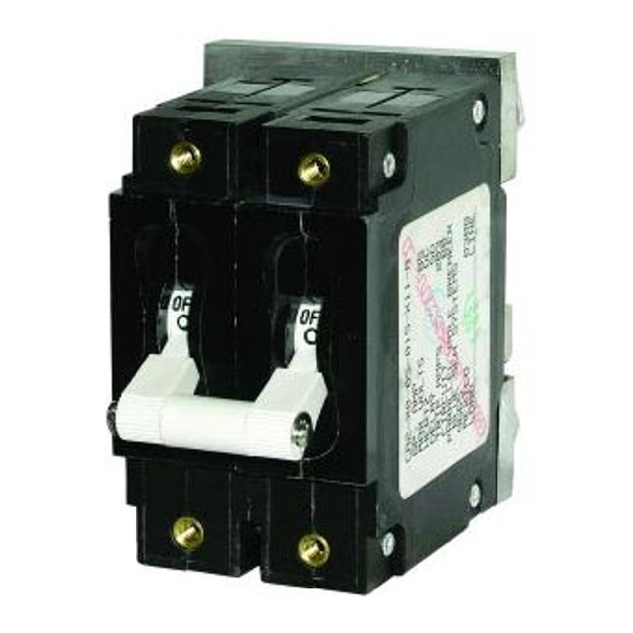 CIRCUIT BREAKER WHT 20AMP A-SERIES TOGGLE DBL POLE