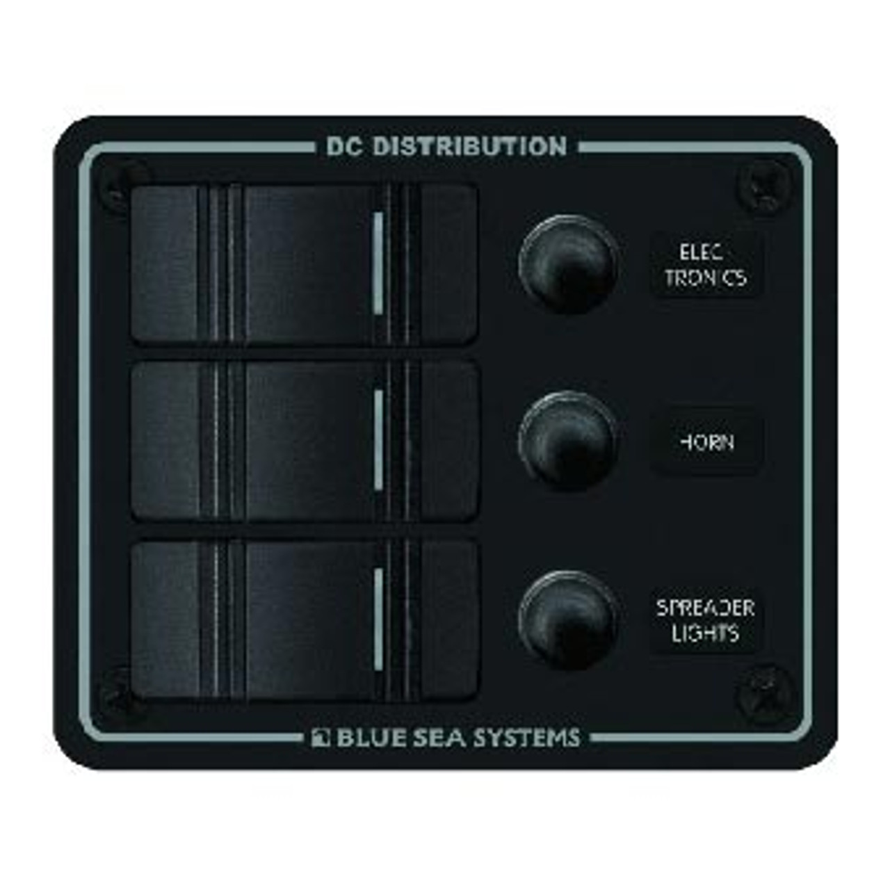PANEL DC 3 POSITION HORIZ BLACK