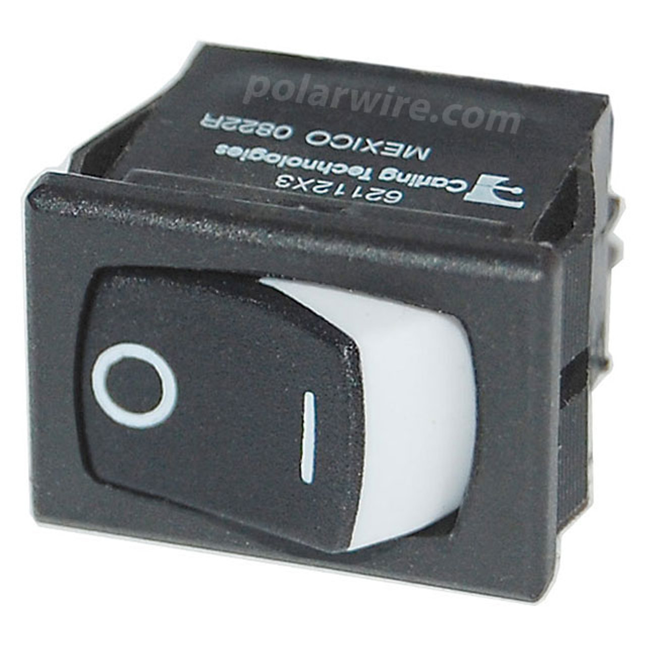 SM PANEL ROCKER SWITCHES SPST BLACK (ON)-OFF
