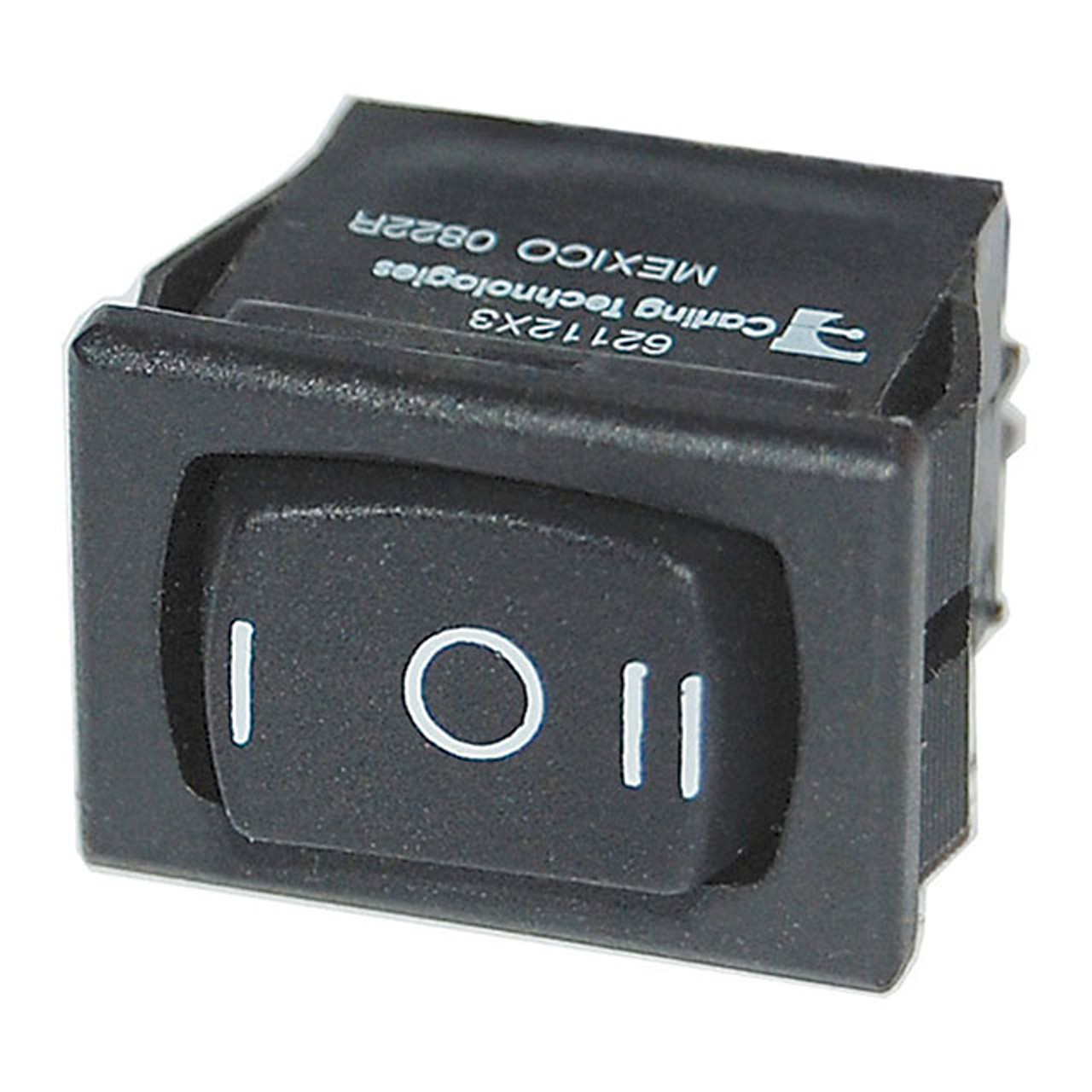 SM PANEL ROCKER SWITCHES DPDT BLACK (ON)-OFF-(ON)