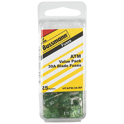 ATC BLADE FUSE 30AMP 25PC  VALUE PACK