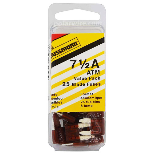 ATM BLADE FUSE 7-1/2 25PC  VALUE PACK