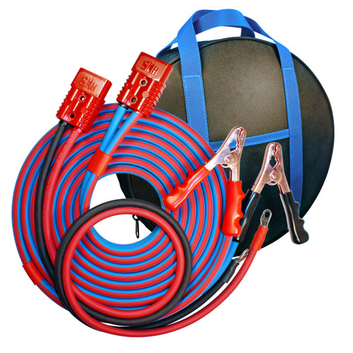 16' 2 GA Cold Weather Jumper Cable, Clamp to 4' Harness Booster System