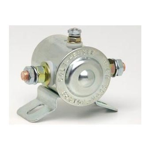 SOLENOID 12V CONTINUOUS GROUNDED 85AMP CURVED BR