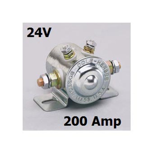 SOLENOID 24V/200A CON INSULATED 200 AMP