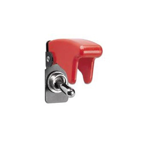 TOGGLE SWIT SAFETY COVER RED HINGED TOGGLE COVER