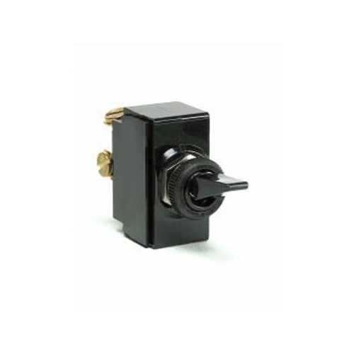 TOGGLE SWIT BLK ON-OFF 2S SPST 2 SCREW TERMINALS